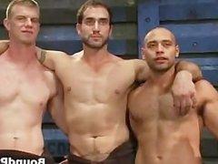 Three hot guys getting interviewed part1