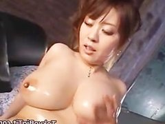 Big Asian Tits Oiled and Fucked part3