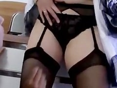 Lingerie lesbos oral pleasure