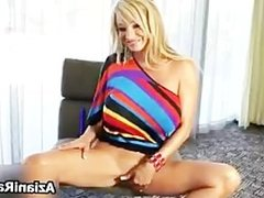 Blonde cougar with big tits loves part1