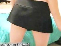 Pretty Emo teasing teen in her bedroom part4