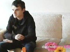 Zuzinka plays with shy guy on casting