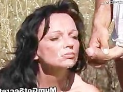 Horny MILF gets fucked hard outdoor free part4
