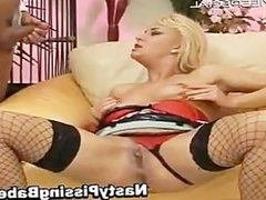 Slut in stockings sucking cock part4
