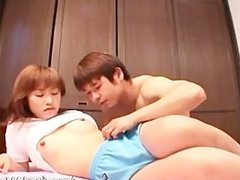 Petite japanese girl sucking cock part6