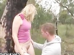 Slutty real aussie blonde gets eaten out