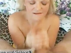 Nasty mom shows her juggs and sucks cock part4