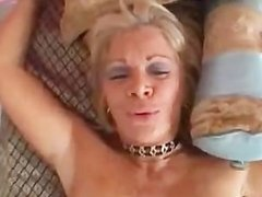 Busty blonde cougar banging