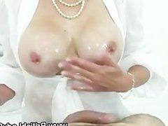 Lady Sonia slow motion cumshot