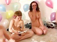 Lesbian reality teen group orgy