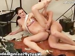 Slutty whore gets her tight pussy fucked part3