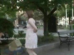 Kinky masters disgrace slave in public