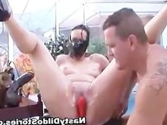 Idiot with strapon on head fucks some part2