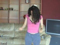 Zayda plays Strip Rock-Paper-Scissors against YOU