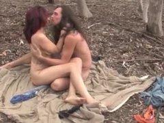 Couple enjoy naked play cumshot
