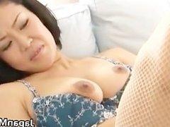 Ayaka asian milf spreads her legs part1