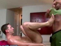 Bear eats straight cock