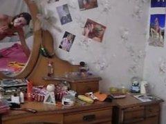 naked schoolmate in her room