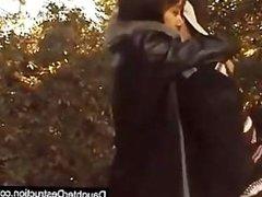 Pounding lovely teen in the park
