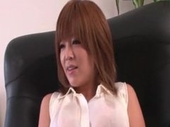 Asian Hottie In Pantyhose Banged By Two Guys