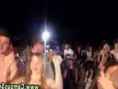 Naked teens beach party