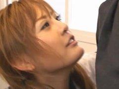Cute Japanese school girl Momo gets part1