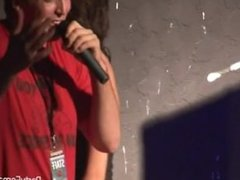Young Hotties Get Wild on the Mic at the Club