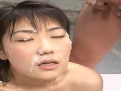 Shinobu Kasagi Asian babe gets a facial