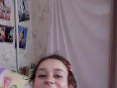 naked teen in her bedroom