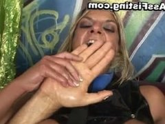 Filthy whore ass riding dick and gets part3
