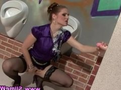 Stockings gloryhole bukkake babe