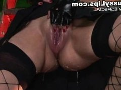 Slut with huge pussy lips gets enormous part2