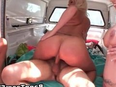 Busty blond bimbo gets her pussy fucked part6