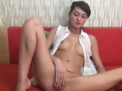 hot brunette masturbating on a red couch(2).flv