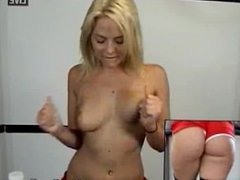 Alexis Texas in the gym live