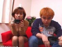Tiny asian redhead sucking cock part6