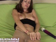 Lelu Love-Pantyhose Sniffer Caught Facial