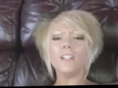 Sexy blonde loves to suck cock