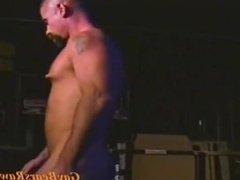 Big muscle bear in steamy hot solo