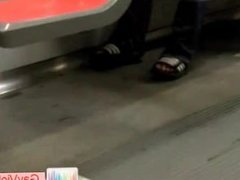 Dude getting boned in metro part1