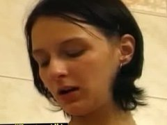 Hot teen girl taking a sexy shower