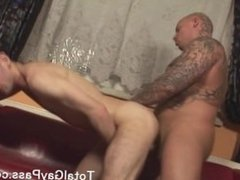 Guy getting a long bare fuck