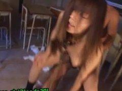 Cute asian schoolgirl fucked hard part1