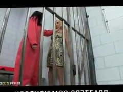 Busty lesbian prisoner forces new in-mate