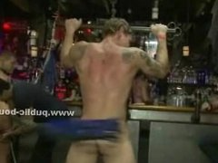 Boy undressed in shop caught by gay kinky men and force to fuck