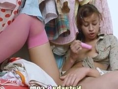 teen with anal toy testing her ass