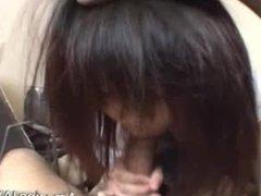 Sexy and wet asian schoolgirl sucking part4