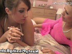 Hot lesbian babes playing with huge part6
