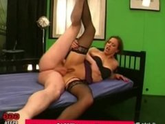 Amateur german babe gets anal and gets bukkake in groupsex