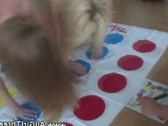 Lesbians twister with a sexy lesbian naked twist